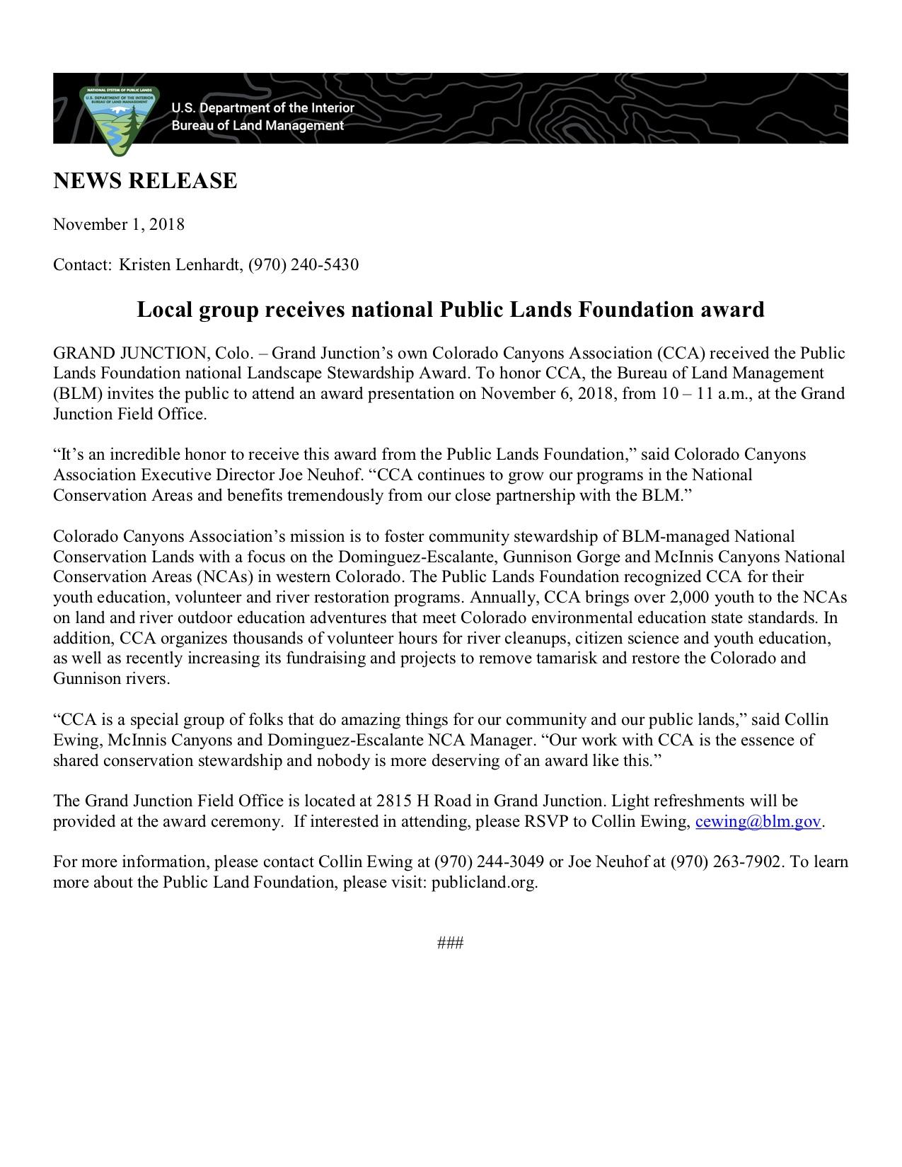 CCA PLF award News Release Oct 2018.jpg