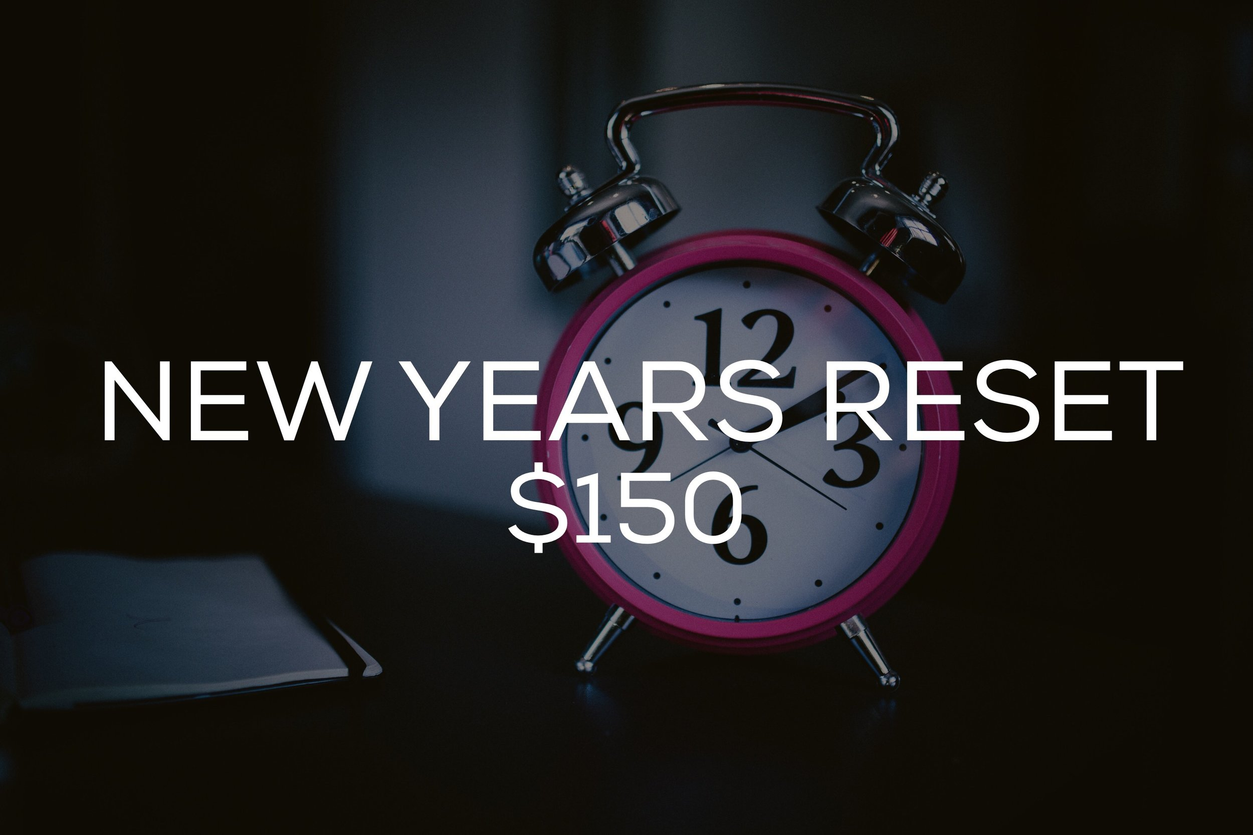 Are you ready to reset your life in 2017?! This package will include three 30 minute sessions on how to push reset in life by learning how to make goals that you can actually achieve!