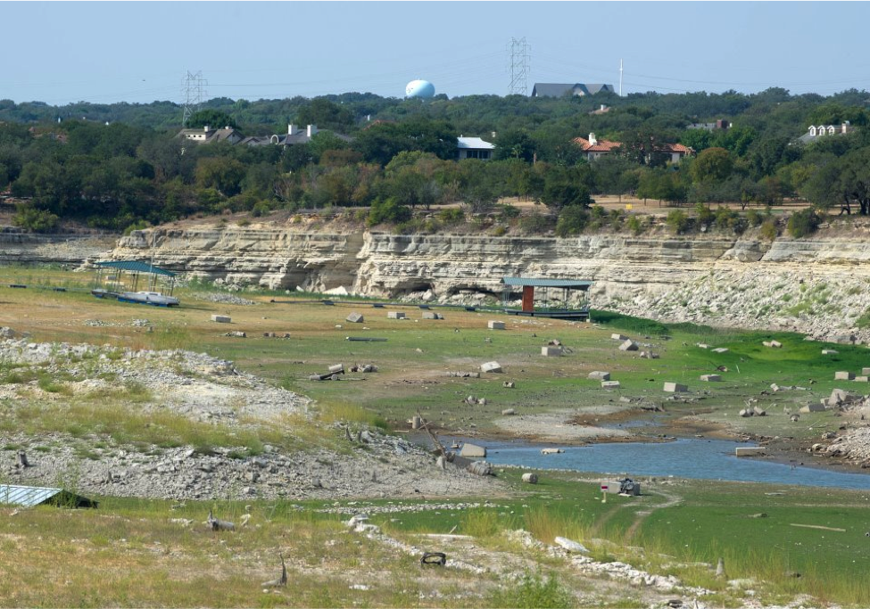 Lake Travis in 2011, the first year LCRA was forced to deviate from the 2010 WMP (Texas Parks and Wildlife, 2011).