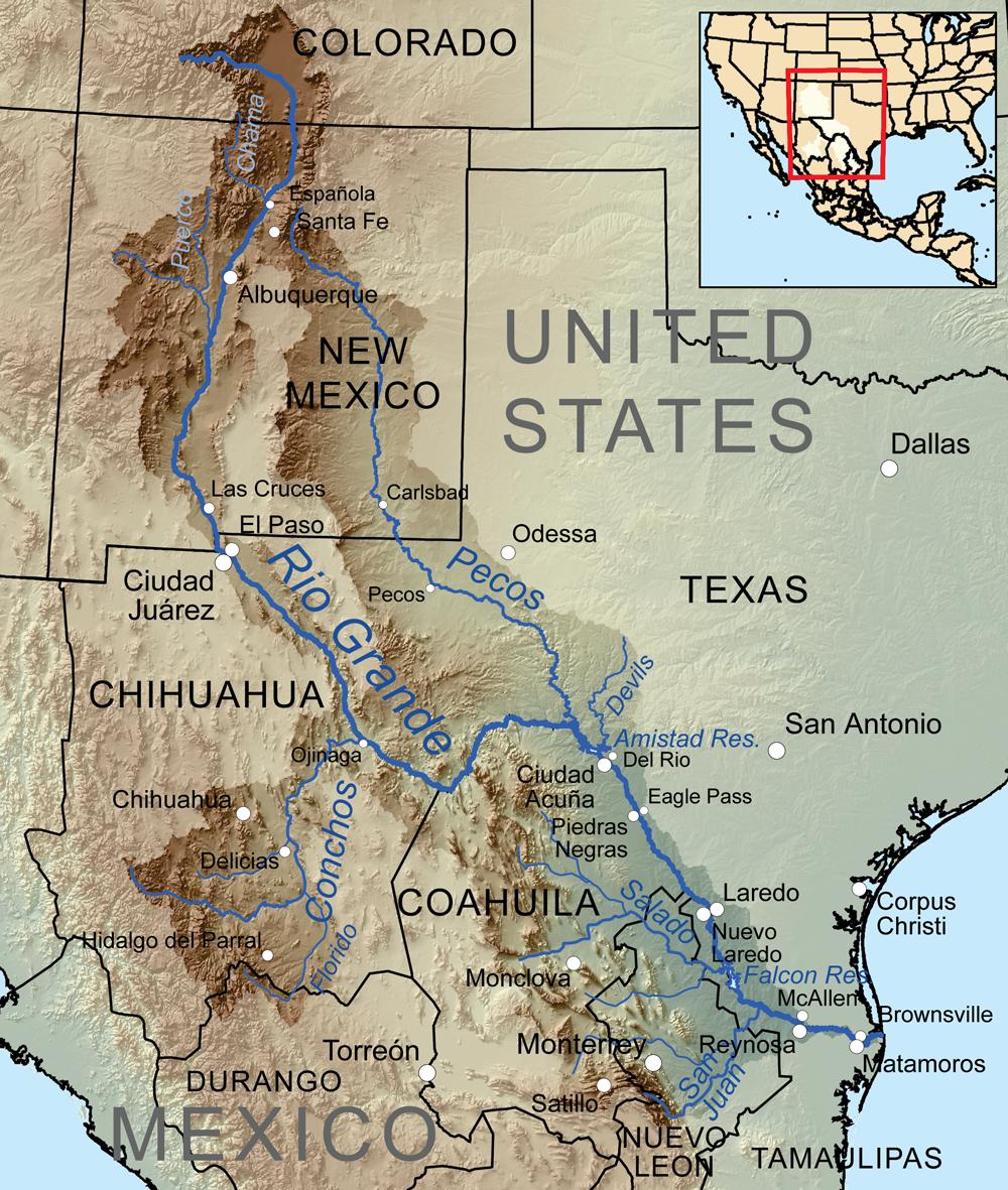 Map of the Rio Grande Basin   Source: Wikimedia Commons