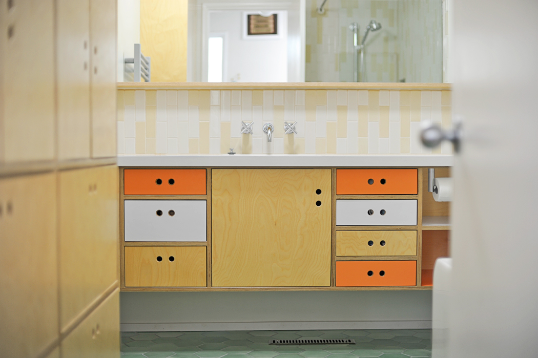Mid Century Inspired Bath Vanity