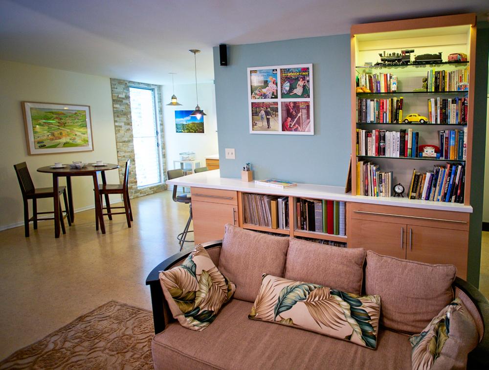 Modern Beech Bookshelf