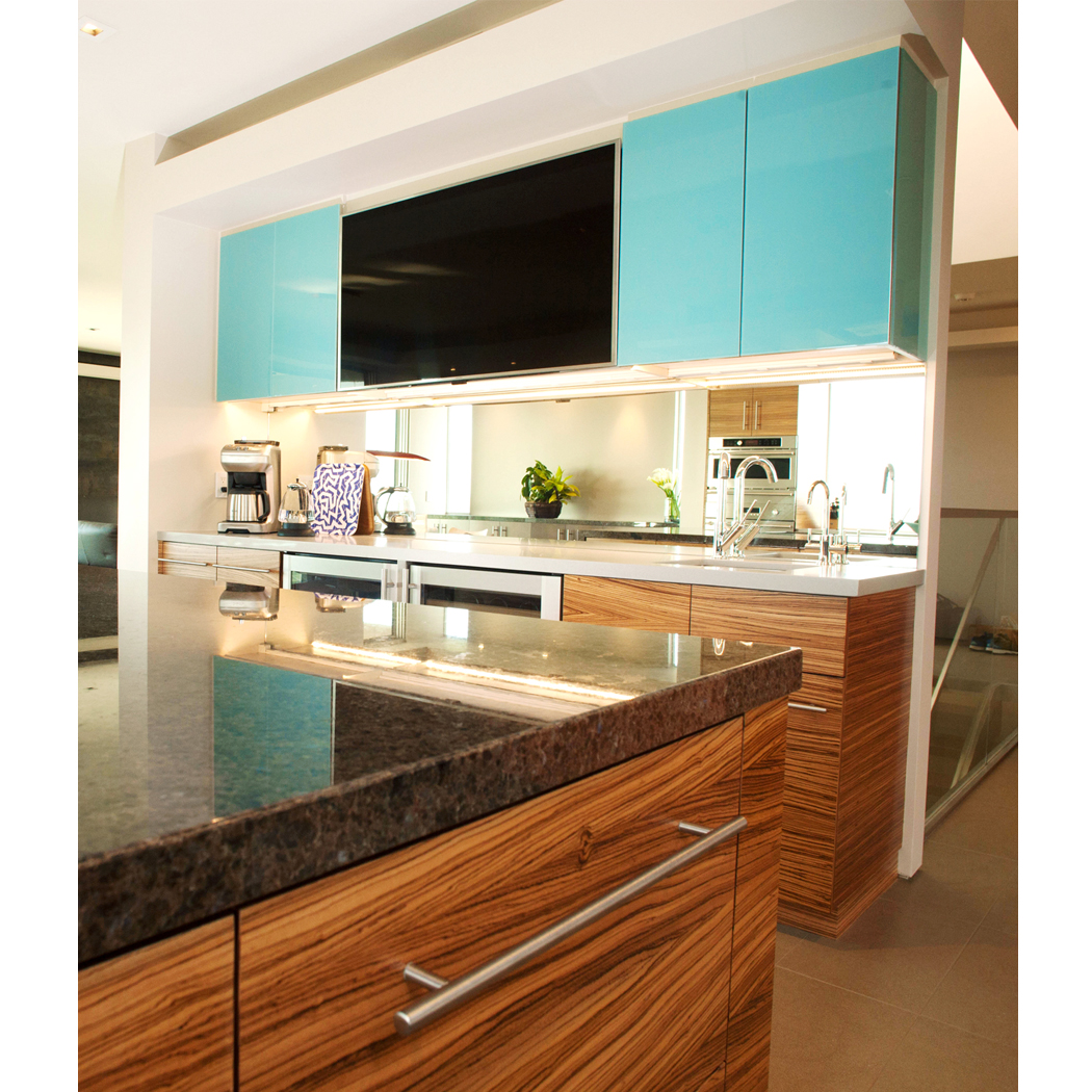 Modern Custom Kitchen and Bar Cabinetry