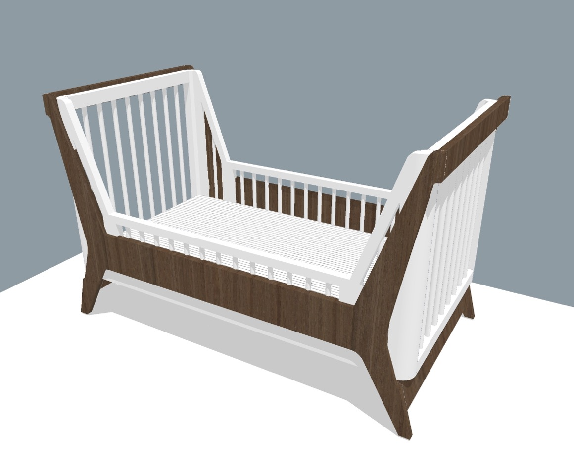 Modern Convertible Crib with Eco Friendly Finish
