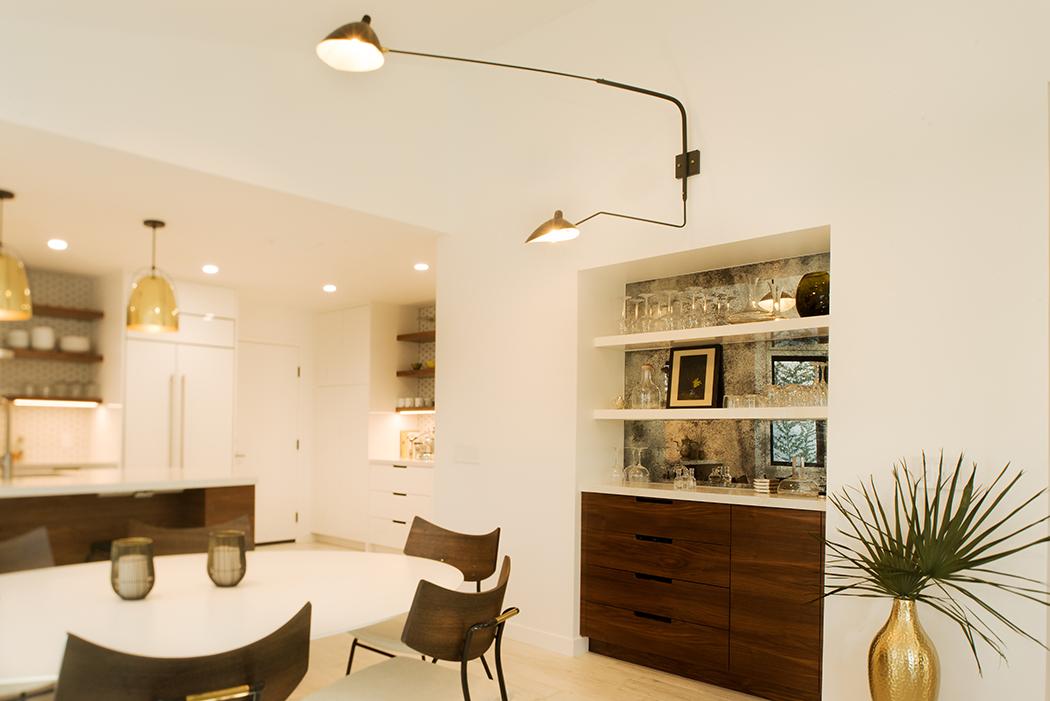 Custom Modern Dining Room Cabinetry