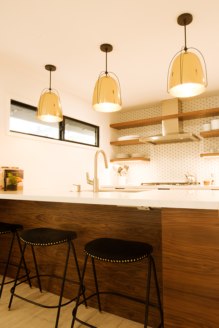Custom Modern Walnut Kitchen Cabinetry
