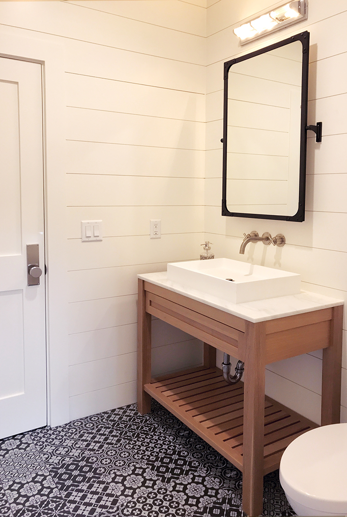 Custom Modern Rustic Transitional Bath Vanity