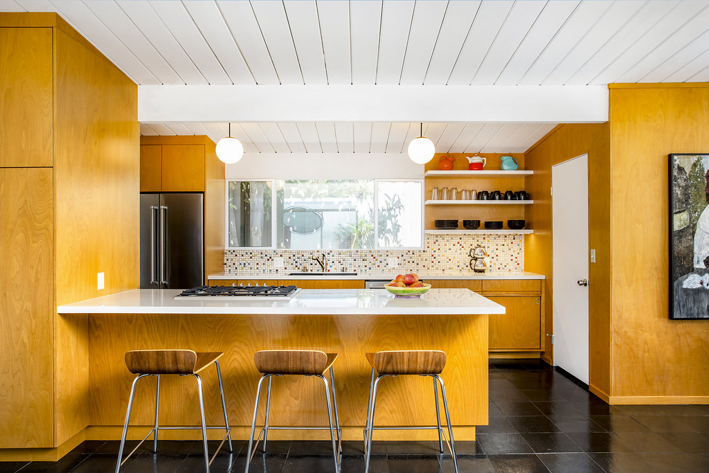 Custom Cabinetry for Southern California Eichler Kitchen