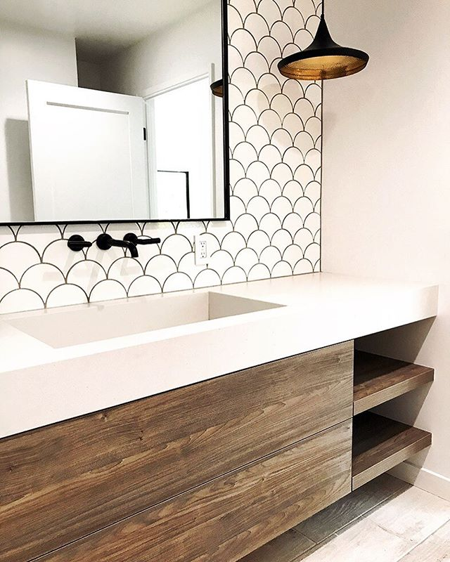 Custom Bath vanities are always fun to build. Big impact in small spaces. Built by hand on our woodshop  Design by @bananas_and_hammocks  #letsbuild #ableandbaker #moderndesign #moderninterior #cabinets #fineinteriors #contemporary #bathroomremodel #bathroomsofinstagram #wood #builtbyhand #madeincalifornia #sodomino