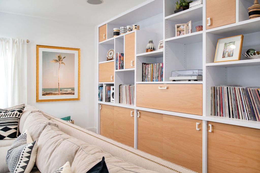 Custom Record Storage Cabinetry