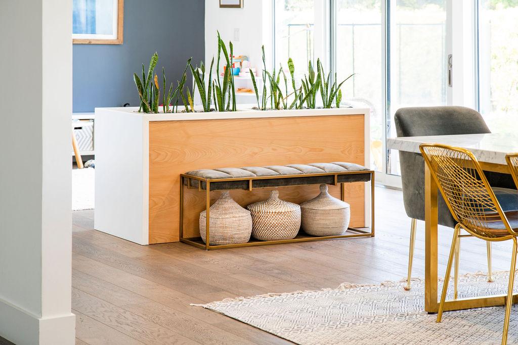 Custom Wood Planter and Storage Cabinet