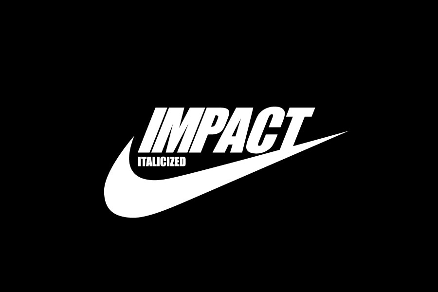 """Impact is a sans-serif typeface designed by Geoffrey Lee in 1965. Its ultra-thick strokes, """"compressed"""" look, and lack of white space are specifically aimed, as its name suggests, to """"impact"""" and hold the viewer's attention immediately. Being a """"headline"""" font, it is generally not used for body text."""
