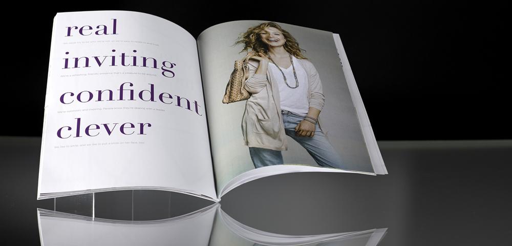 Brand book spread