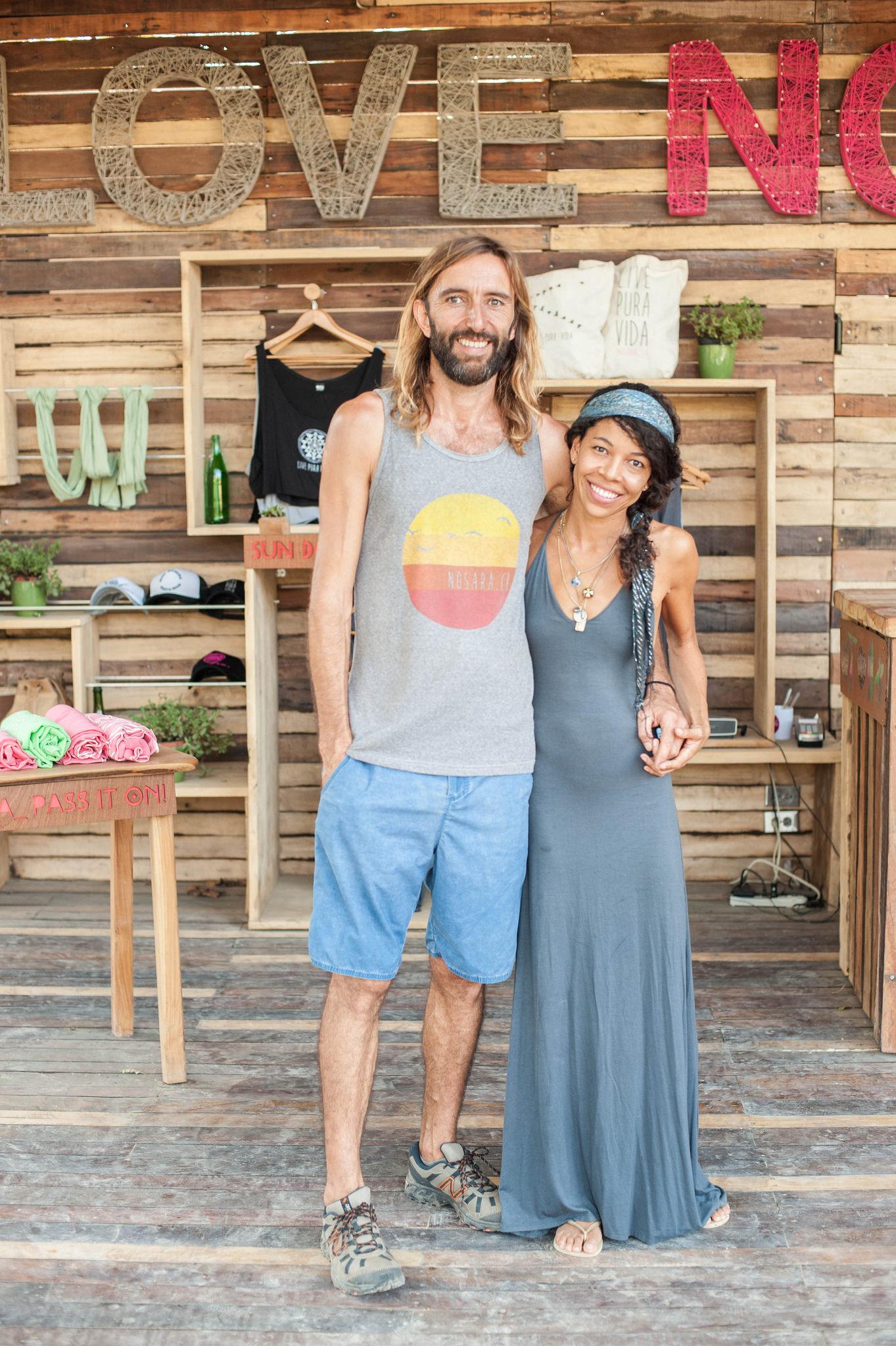 Susana Brown and Manolo Jaramillo, owners of Love Nosara