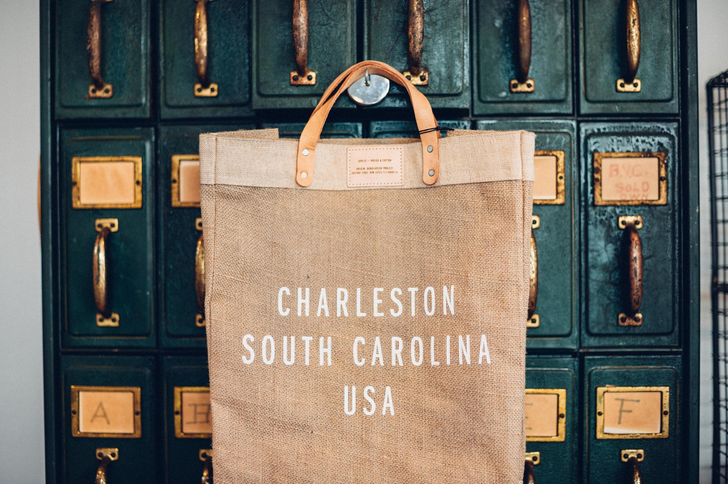 Indigo and Cotton Charleston Bag
