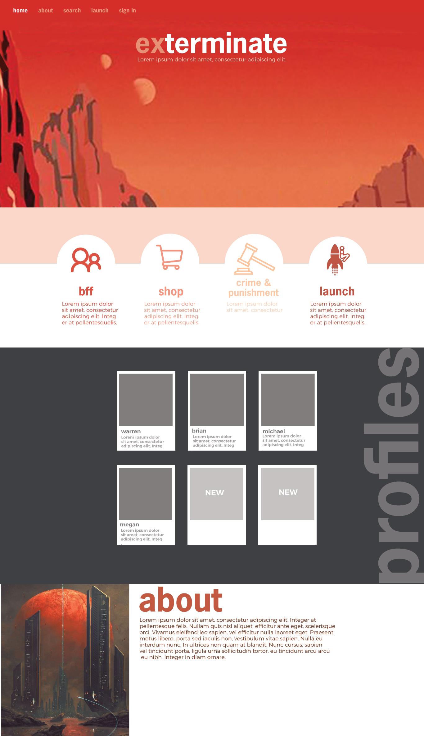 Initial Design Comps for Concept App