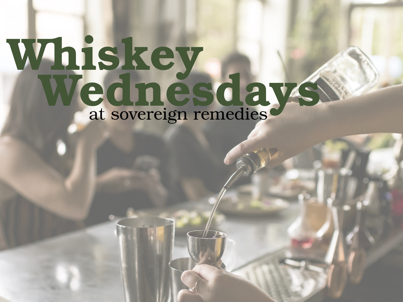No reinvention of the wheel here, only refined selections of Whiskey every 2nd & 4th Wednesday.