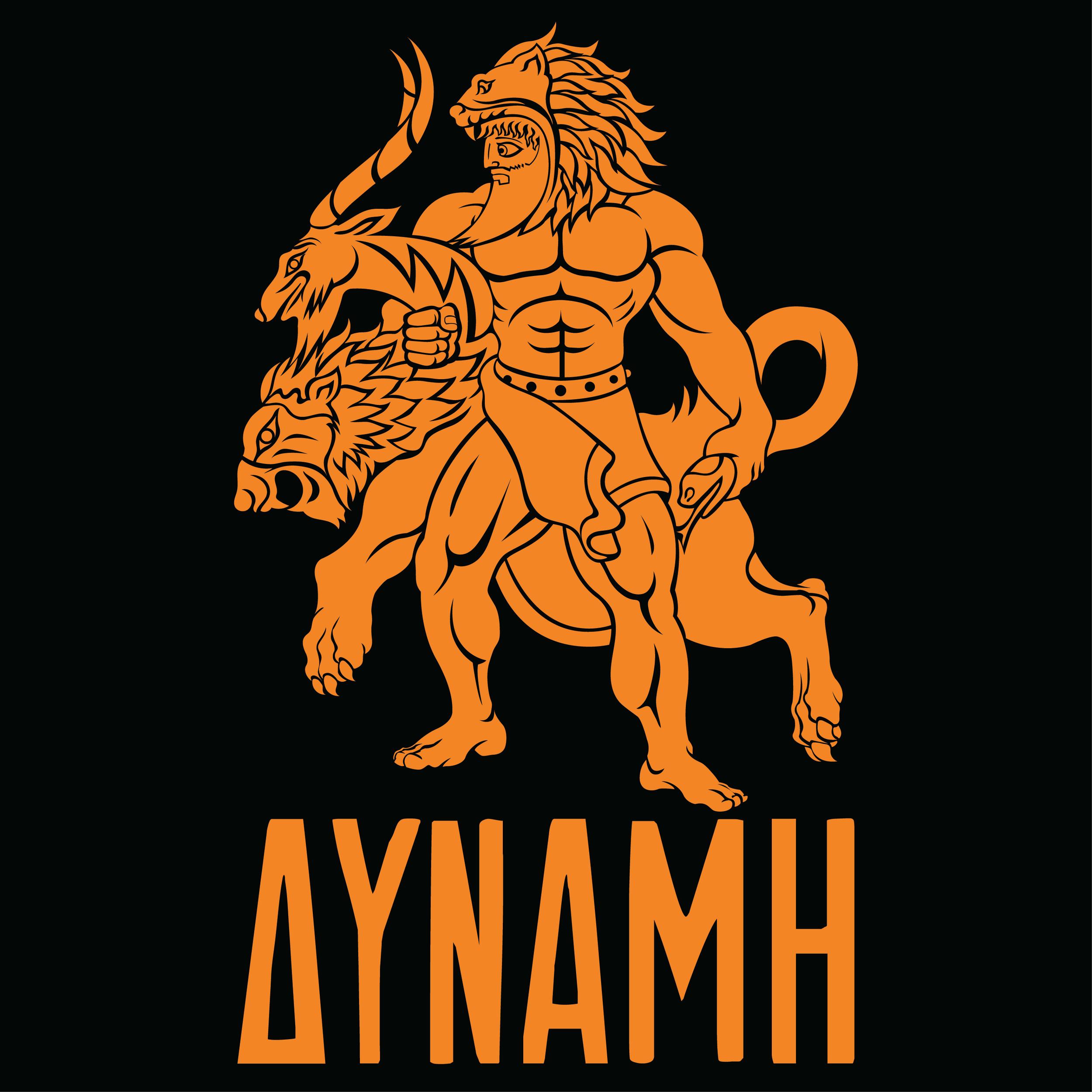 hercules-greek-mythology-mythos-cerberus-beast-12-labors-strength-illustration-adobe-illustrator-raskol-apparel-tshirt-design-roberto-orozco-orozcodesign-art-artist-roberto-artist-chimera-orange
