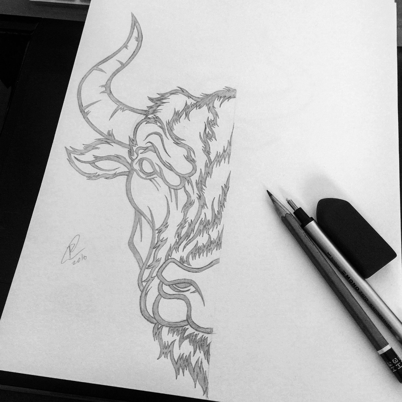 underarmour-therock-bull-toro-yellow-black-tshirt-dwaynejohnson-apparel-pencil-illustration.jpg