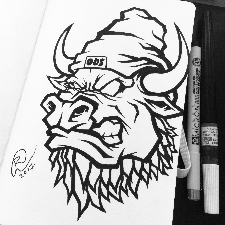 orozodesign-ox-bearded-beast-red-vector-illustration-roberto-orozco-artist-ink-sketch.jpg