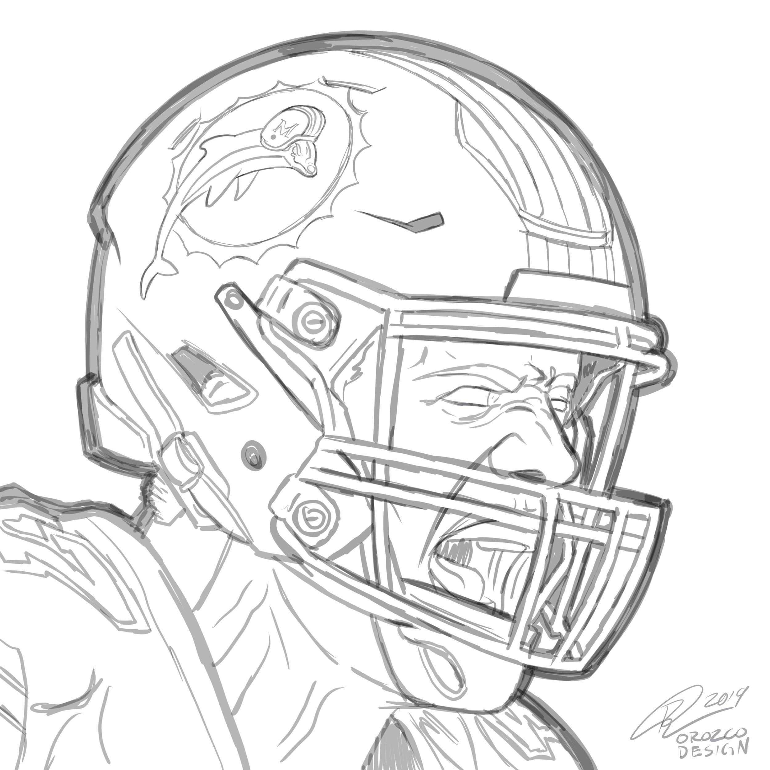 orozcodesign-miamidolphins-NFL-KikoAlonso-illustration-sketch .JPG