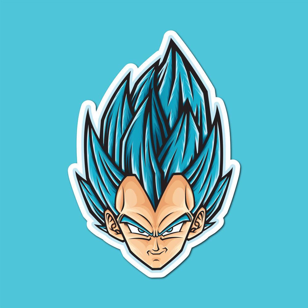 Dragon Ball Super Ultra Instinct Mastered Vegeto Sticker