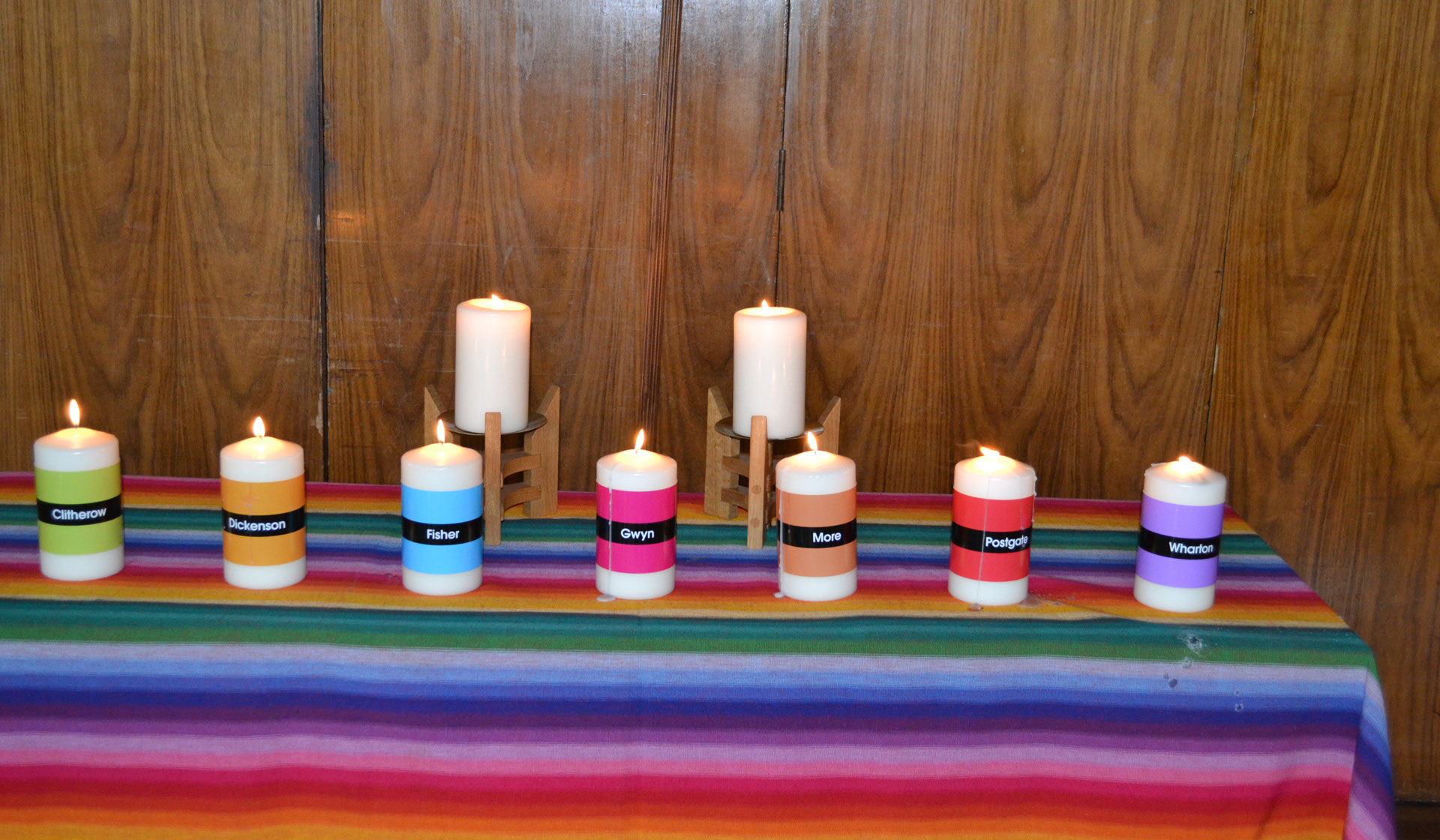 Candles in our Year 7 Mass of Welcome