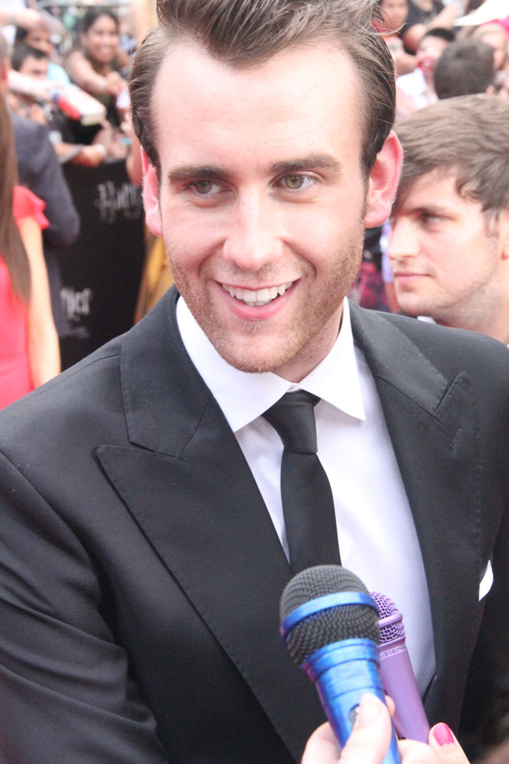 Photo: Matthew Lewis, Neville Longbottom in the  Harry Potter  film series, at the New York premiere of  Harry Potter and the Deathly Hallows