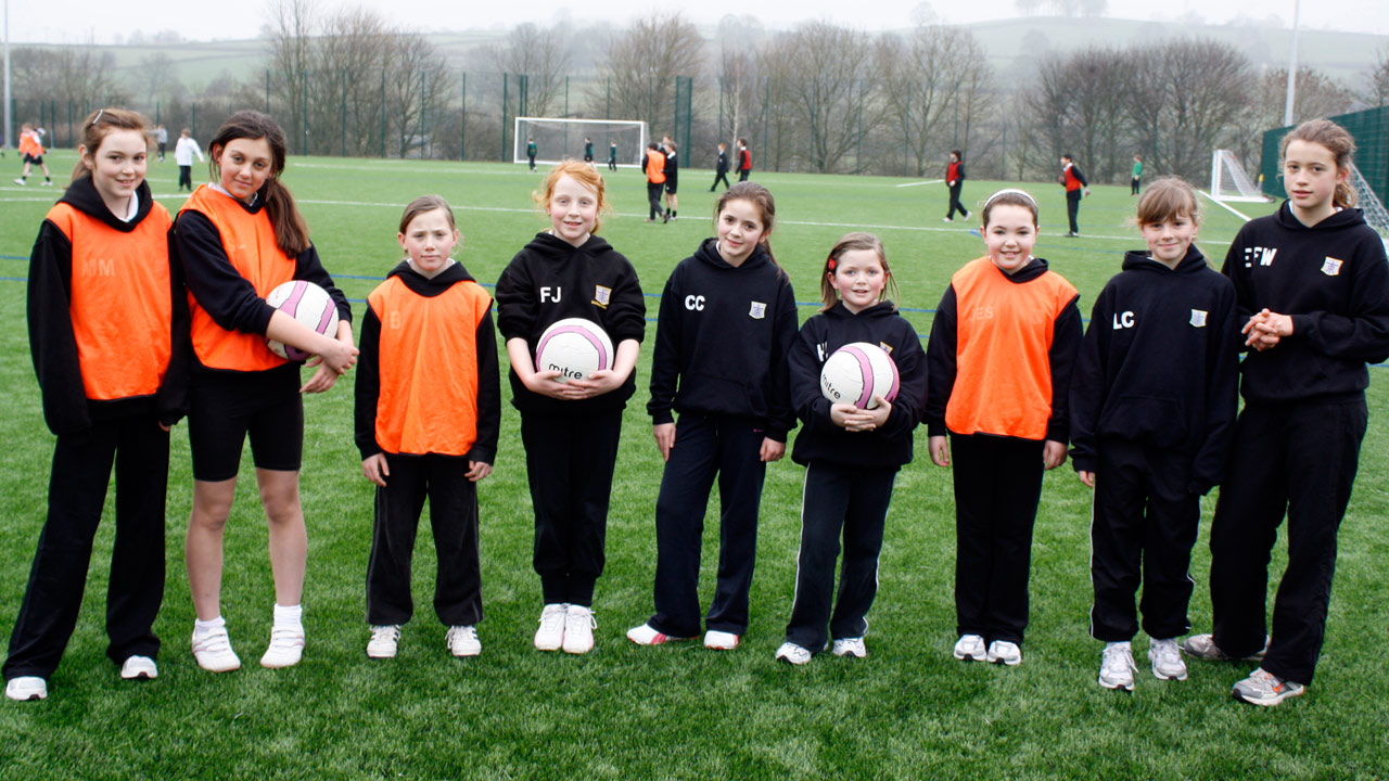 St. Mary's pupils enjoy using the pitch during theirPE lessons.