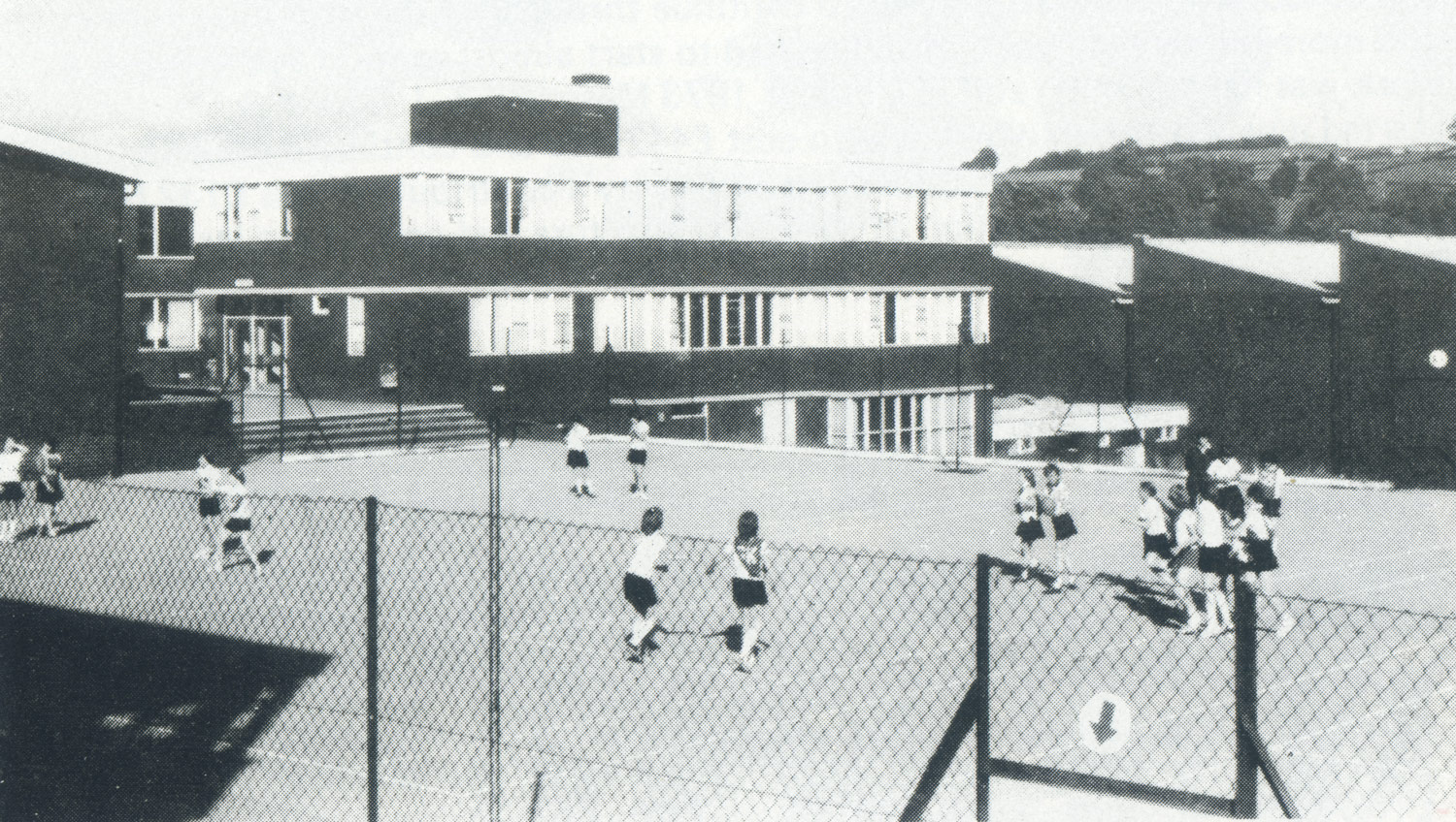 Photo: PE Lesson on the top yard, 1979