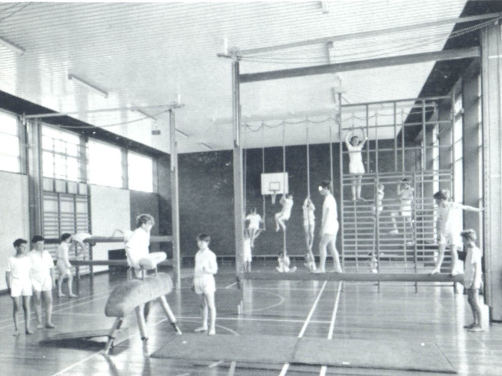 Photo: Pupils keeping fit in the Gym, c1964