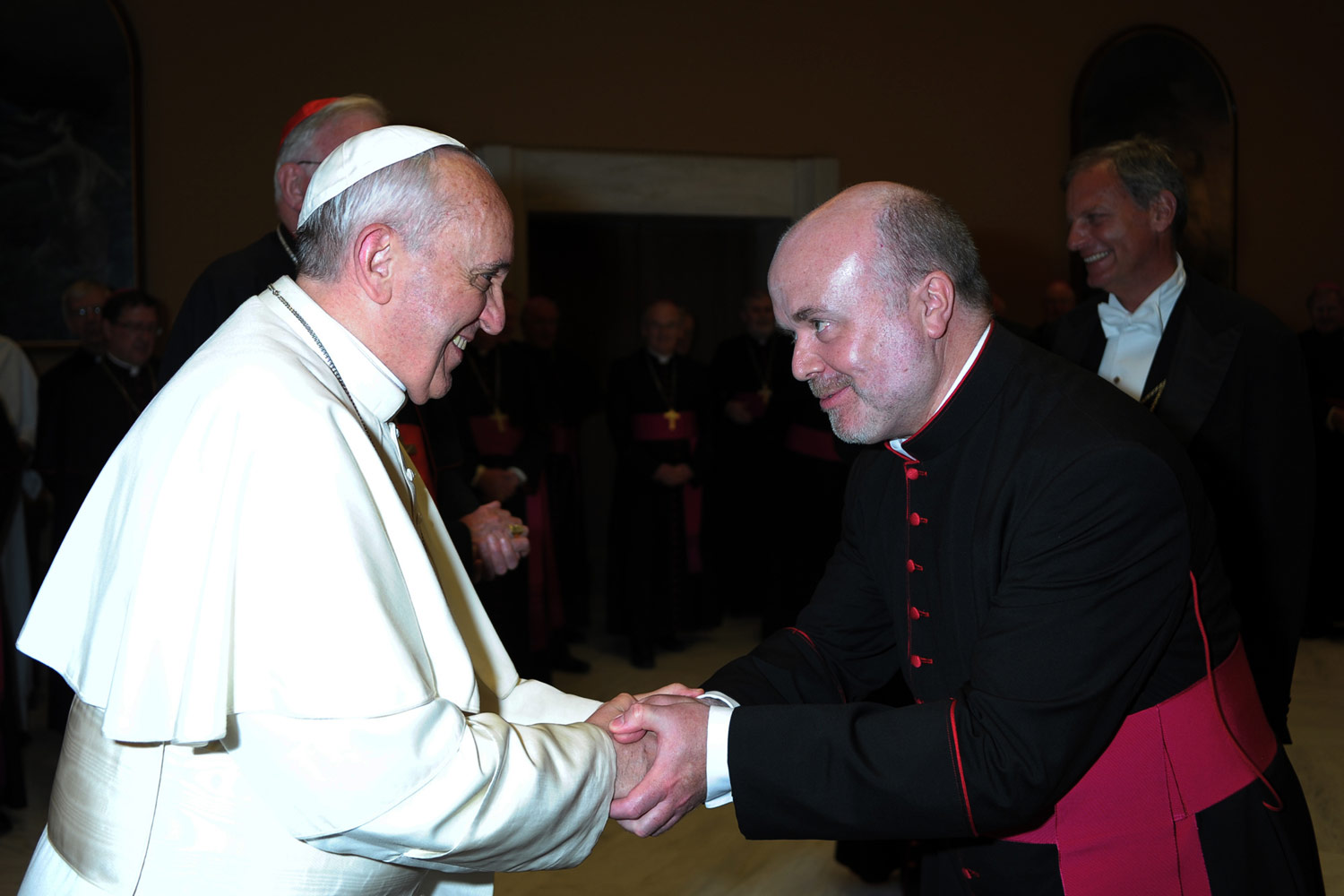 Photo: Bishop Marcus with Pope Francis