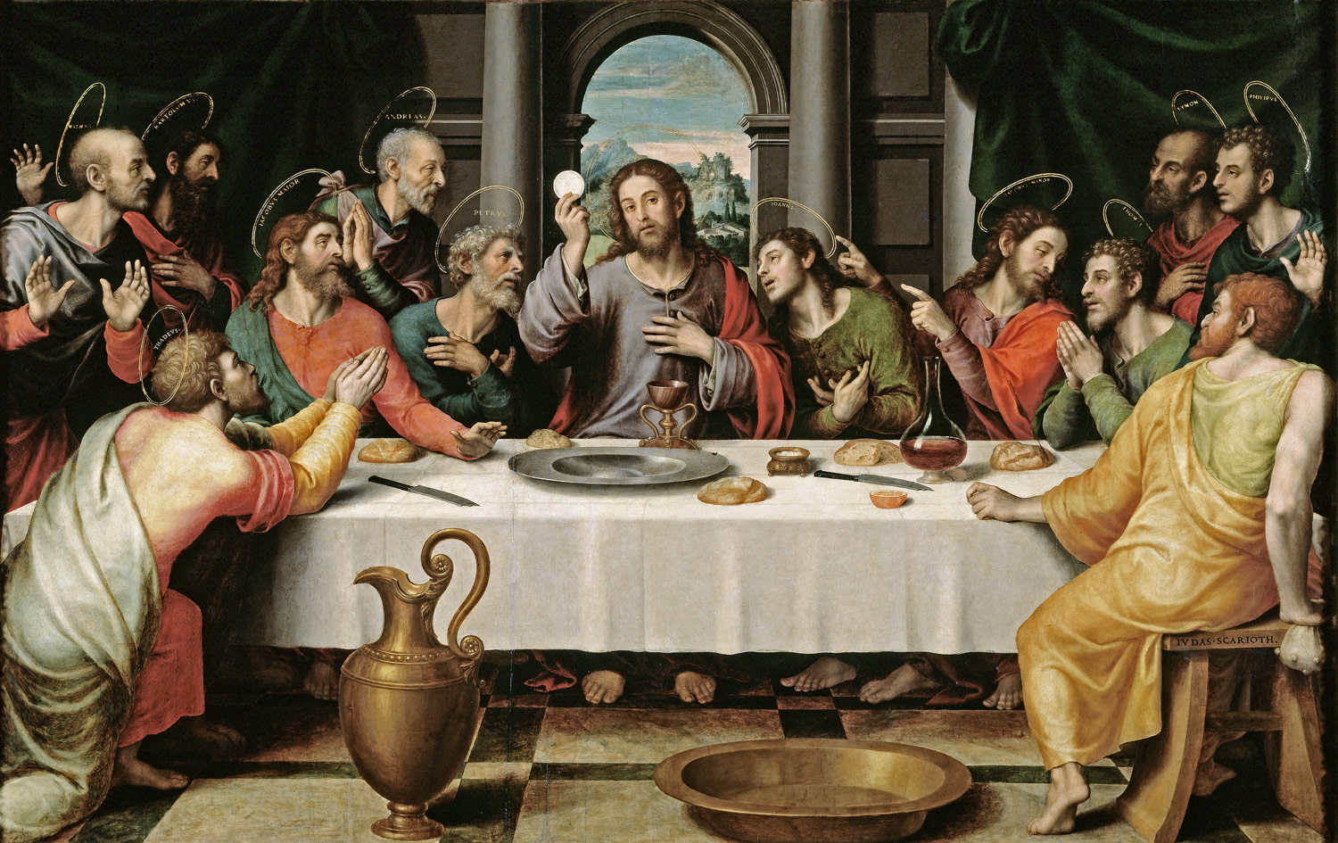 PAINTING:  The first Eucharist , by Juan de Juanes