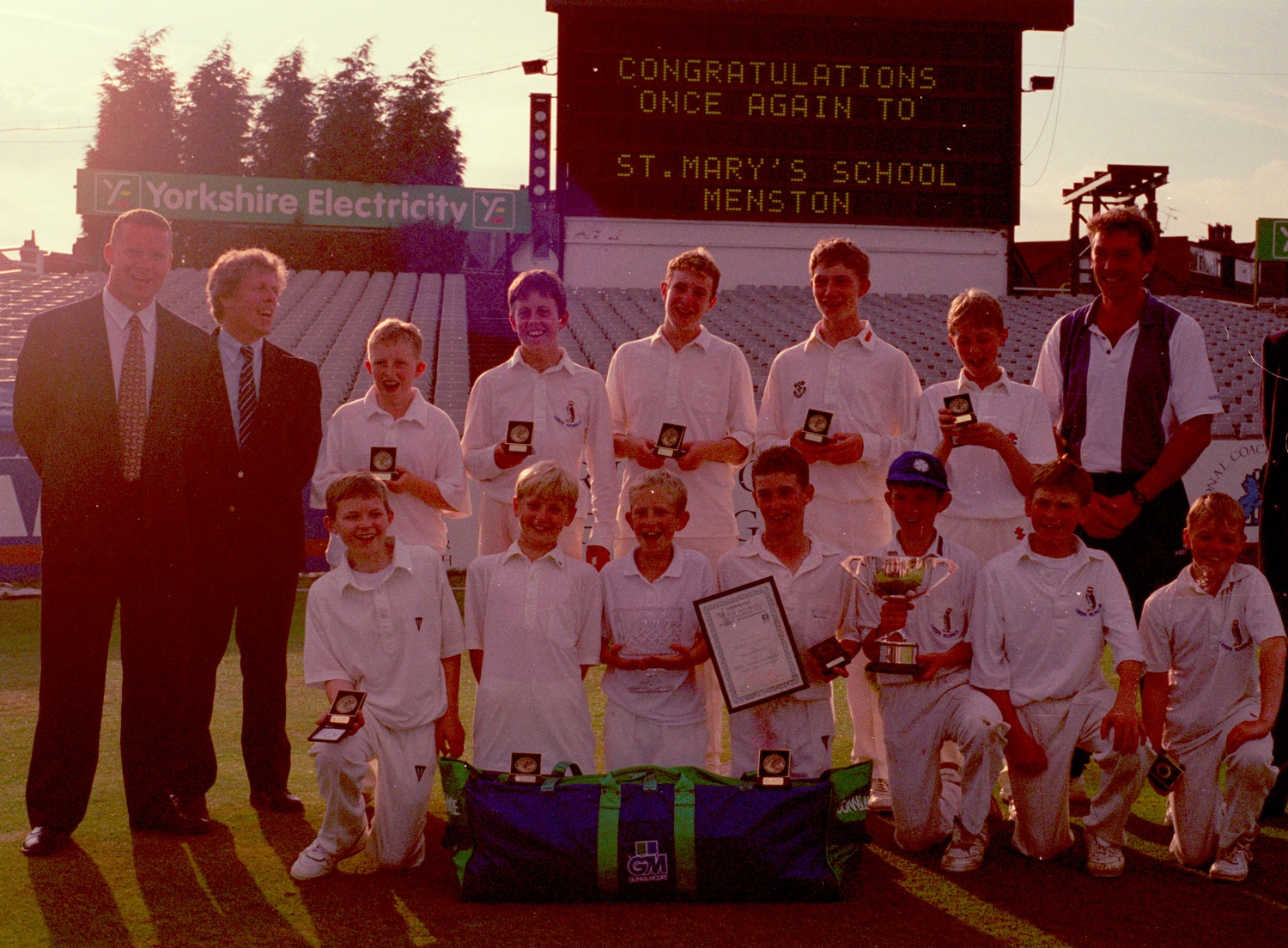 THE 1990s: St. Mary's Menston Yorkshire Cricket Champions again.
