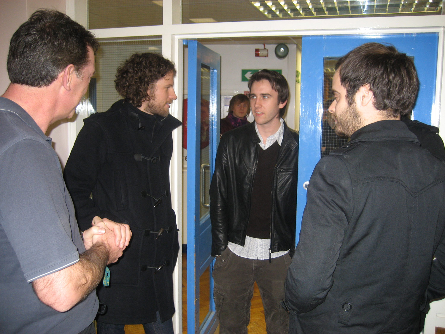 THE 00s: Former pupils the Kaiser Chiefs visit St. Mary's filming a BBC documentary in 2007 and speak to Hollywood actor Matthew Lewis.