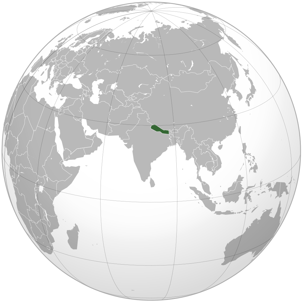 Map: Nepal is a country in South Asia and has a population of 27 million people.