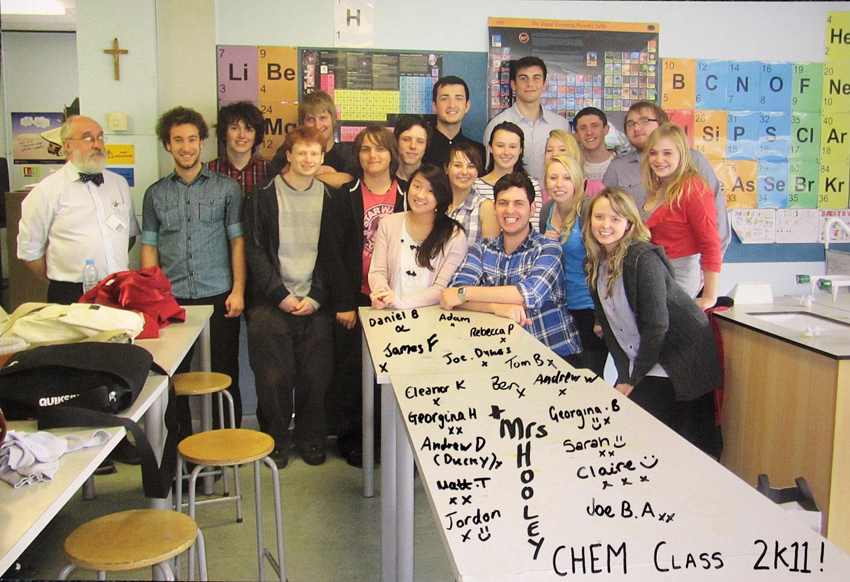 Photo: St. Mary's Menston Chemistry Class 2011