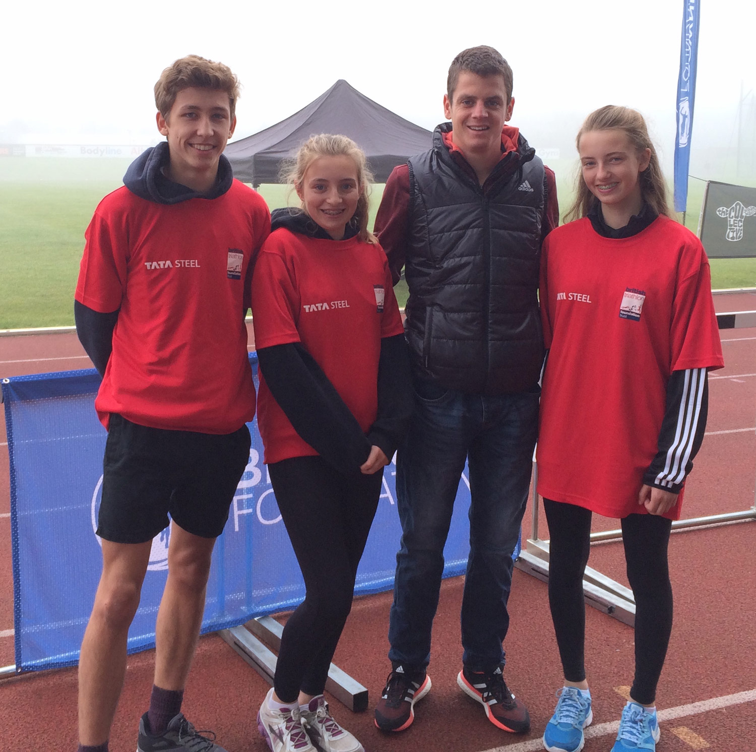 Photo: LEFT TO RIGHT: Kieran Roebuck, Orla Turnbull, Jonny Brownlee and Lily Greenhalgh