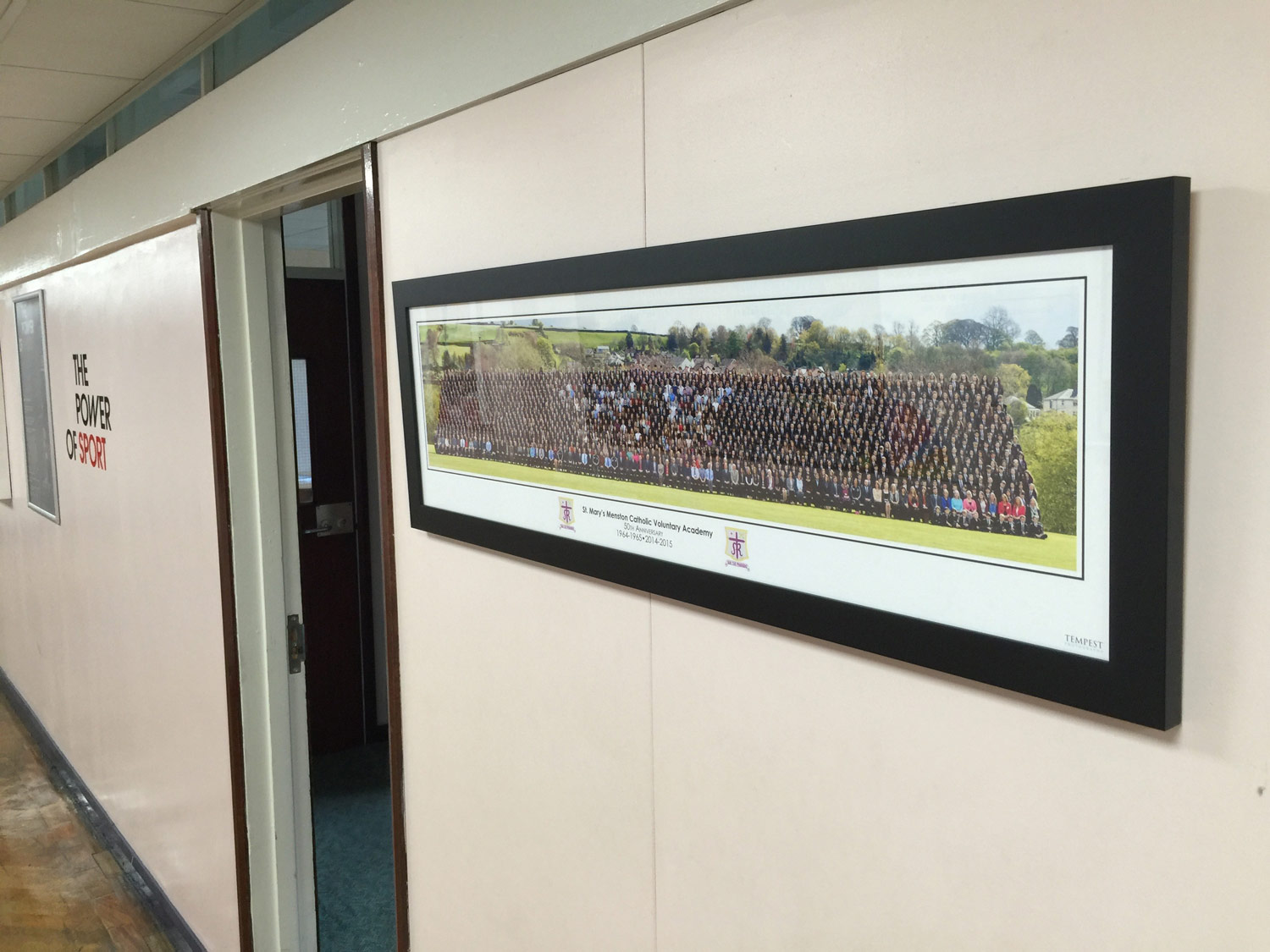 Photo: The 50th Anniversary Whole School Group Photo on our Main Corridor