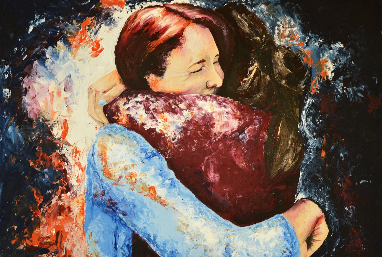 Embrace by Eleanor Thompson (Acrylic on board)