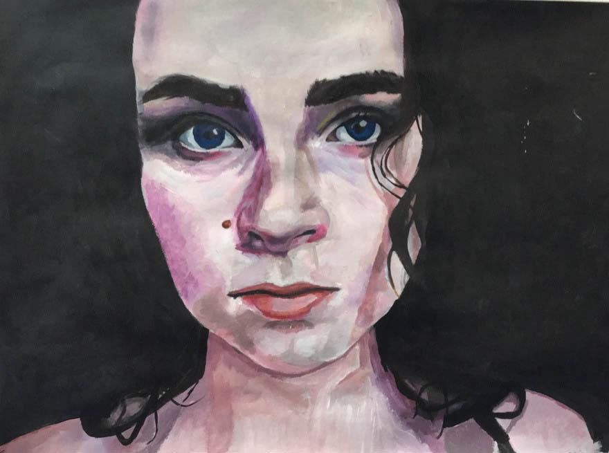 Olivia Leonard (Acrylic on paper)