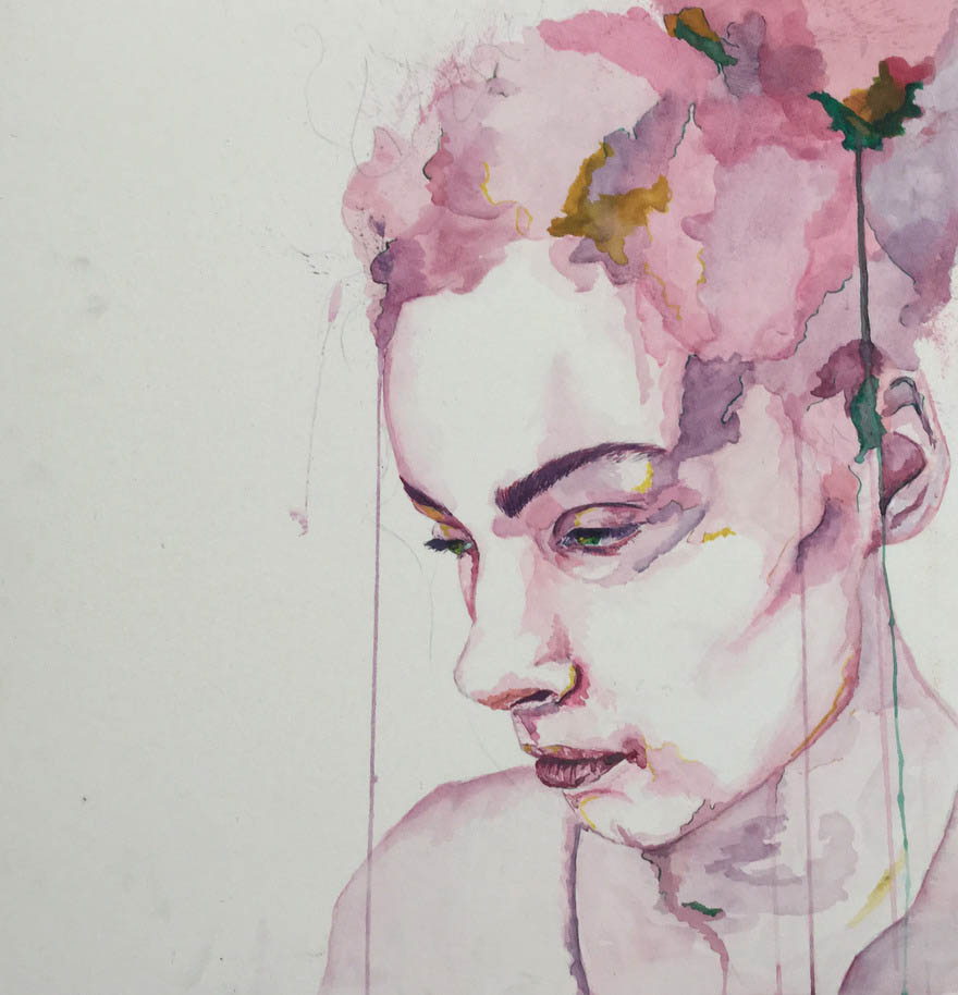 Helena Hunt (Watercolour on paper)