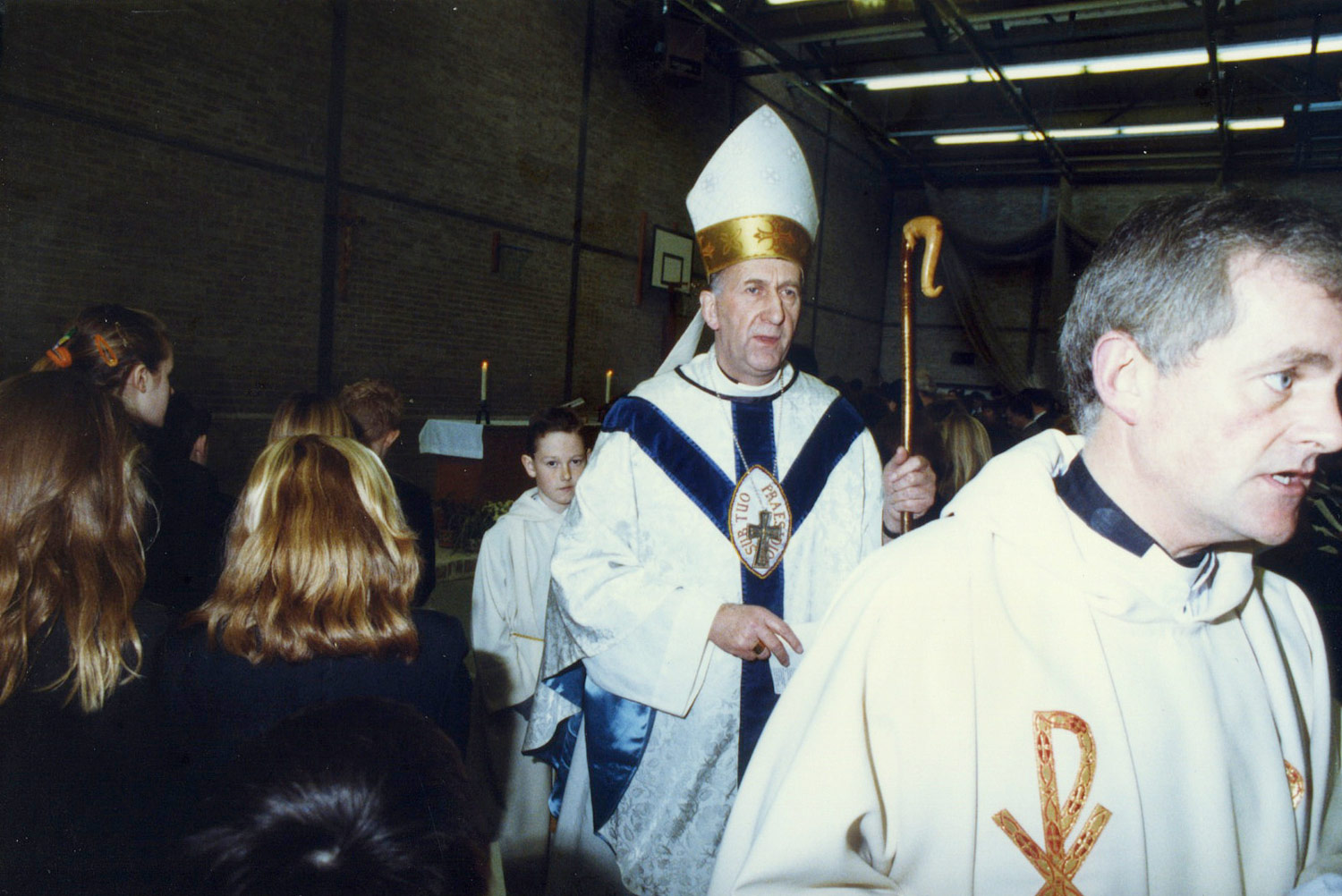 Photo: Bishop David Konstant at St. Mary's Menston Silver Jubilee Mass, 1989