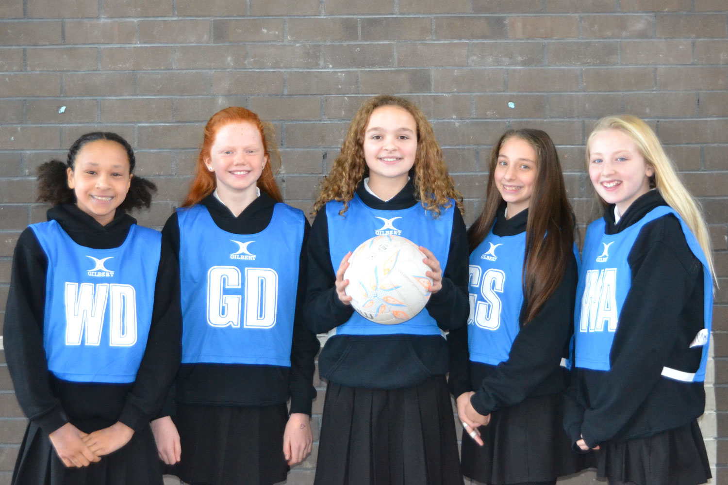 Photo: (LEFT TO RIGHT): Eve Midgley, Eva Curran, Rachel McCormack, Isobel Farmer, Millie Helliwell