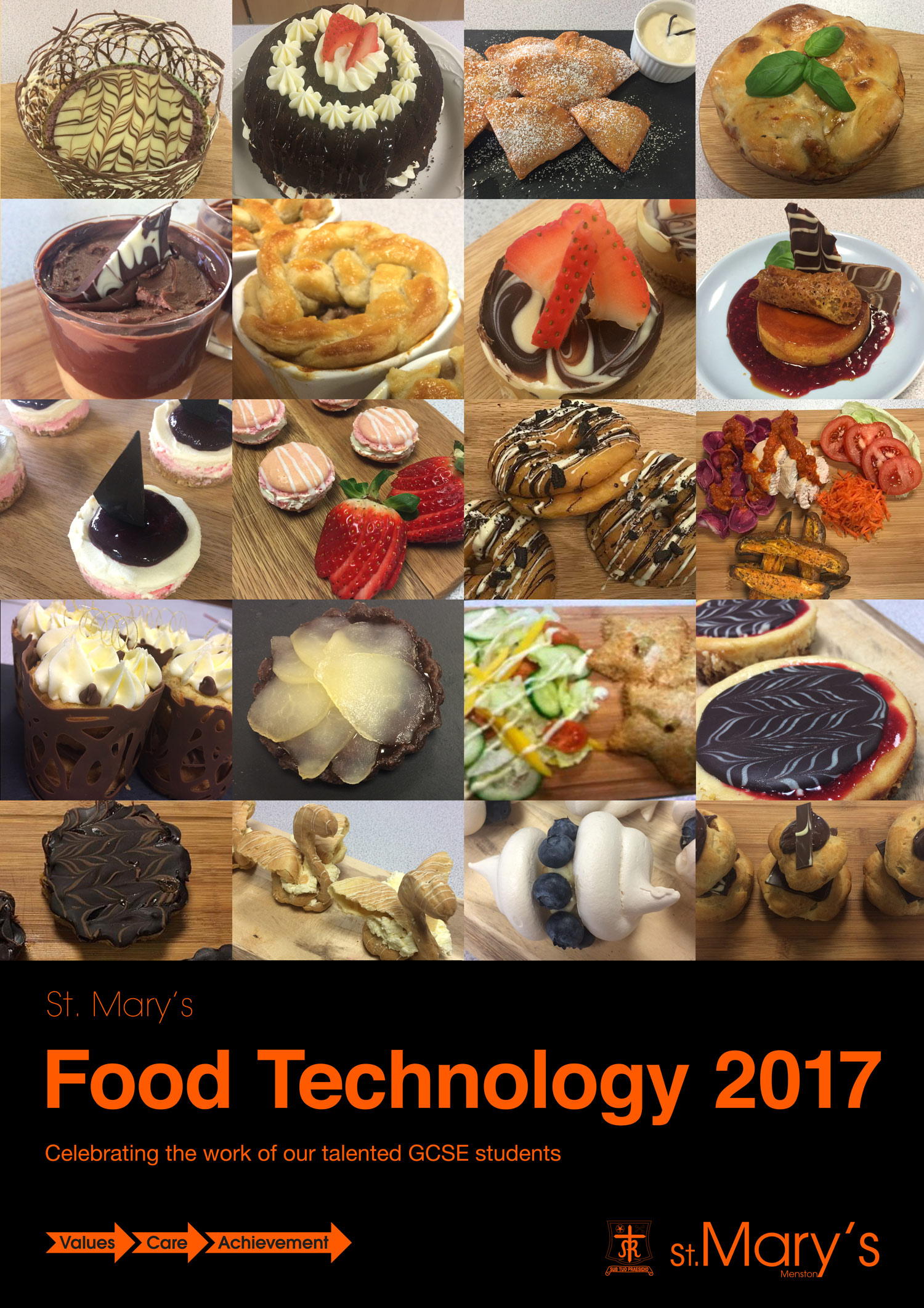 Poster: Well done Year 11 Food Technology students