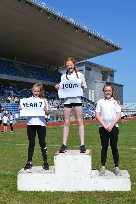 Year 7 Girls 100m