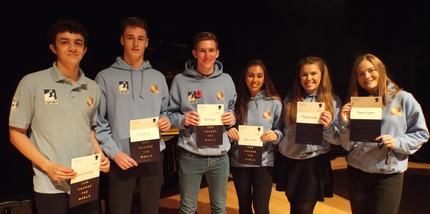 Photo: Left to Right: Sean Moorby, Christopher Ginty, Ben Hings, Sophia Lenik, Amelia Walsh, Megan Lupton
