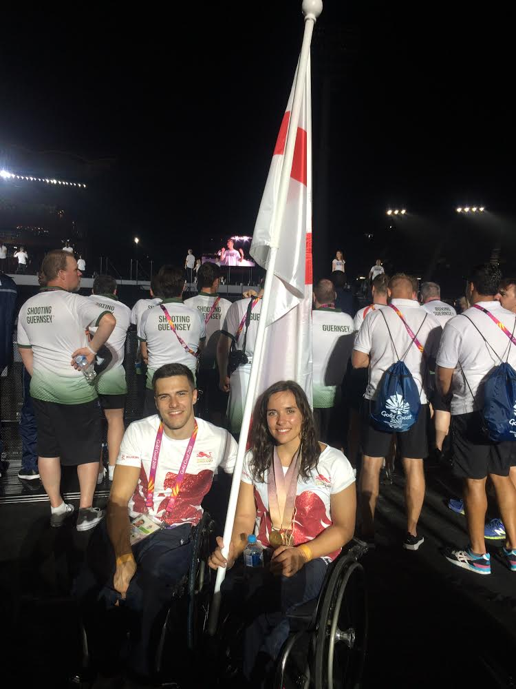 Photo: Callum with his wife Jade at the Commonwealth Games