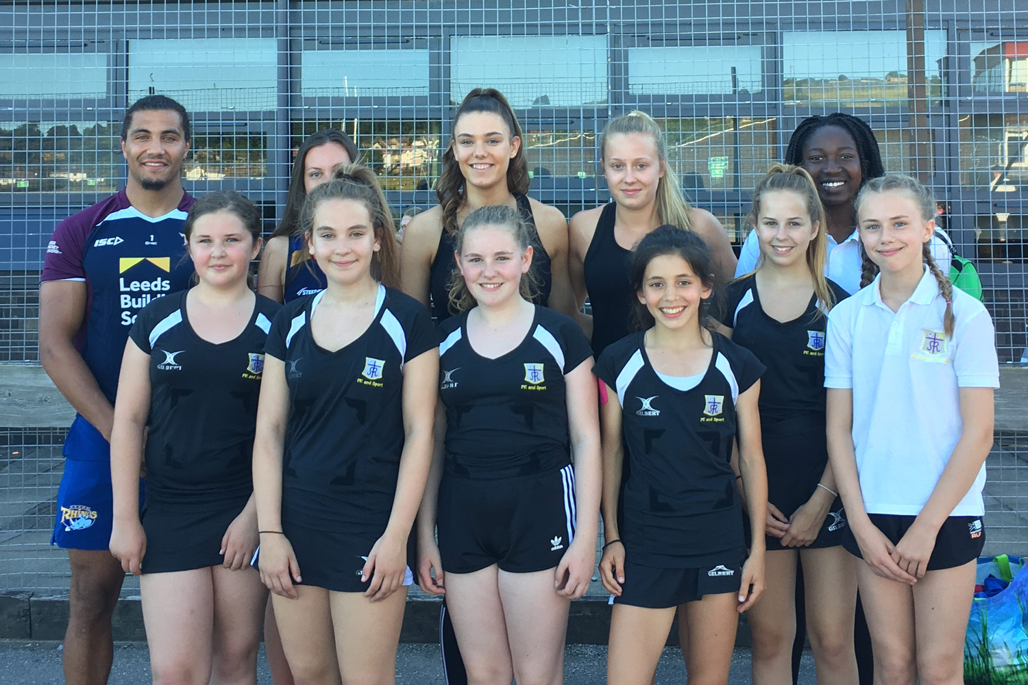 Photo:Year 7 and 8 Netball Leaders assisted at the Year 4/5 Rhinos Netball Festival