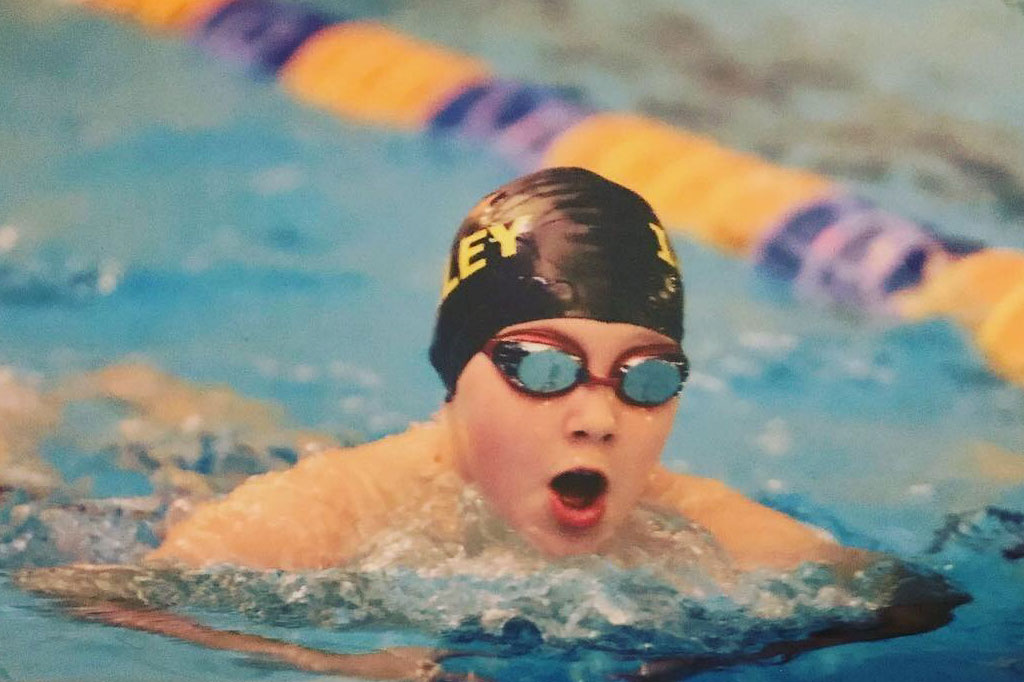 Photo: George at the City of Leeds Swimming Gala